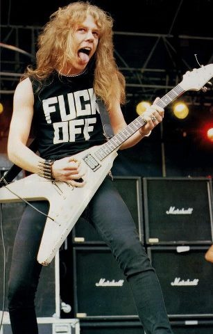 FUCK OFF T-shirt as worn by James Hetfield Metallica