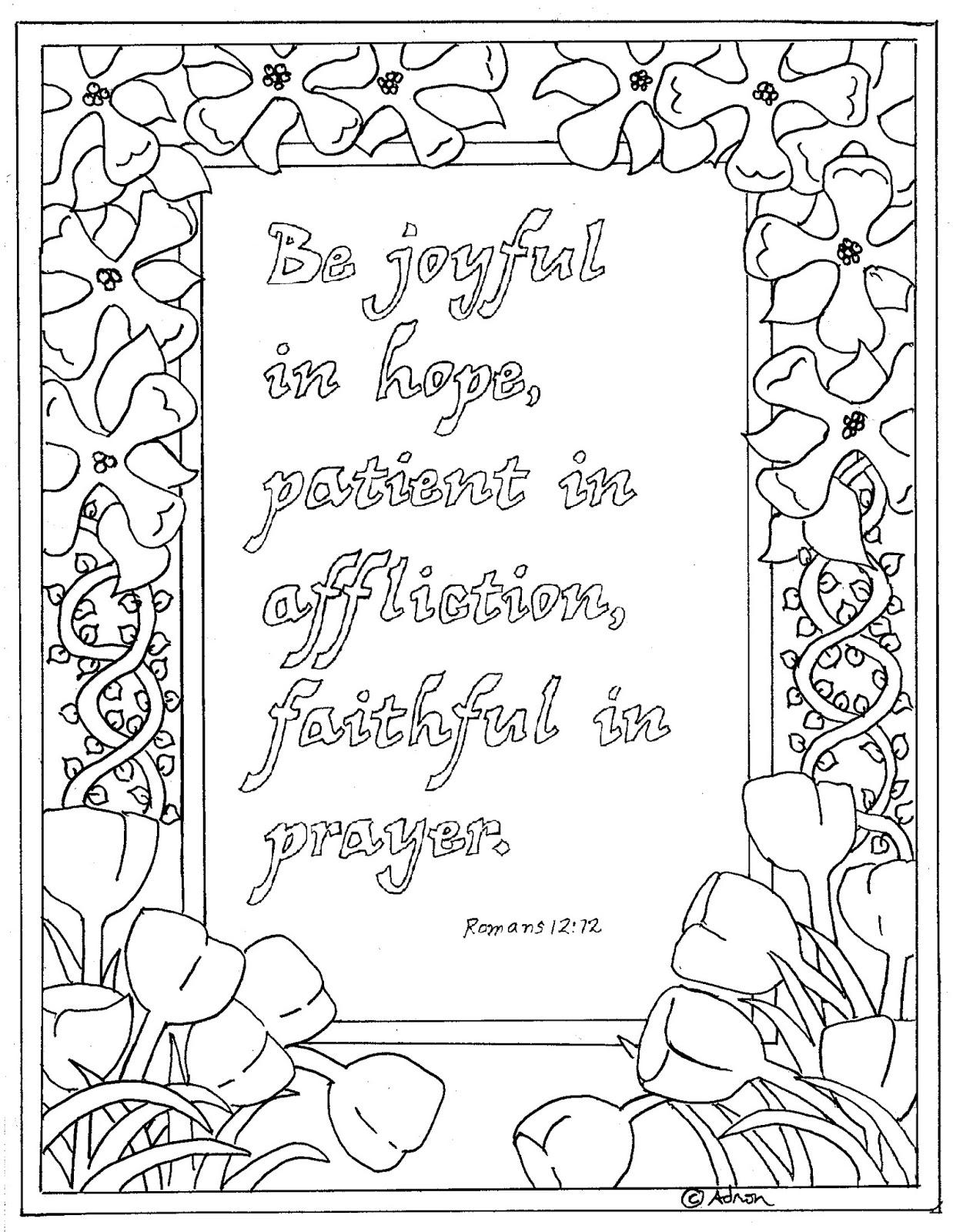 Romans Bible Verse Coloring Pages