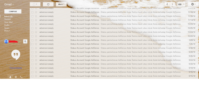 Email Penolakan Google Adsense