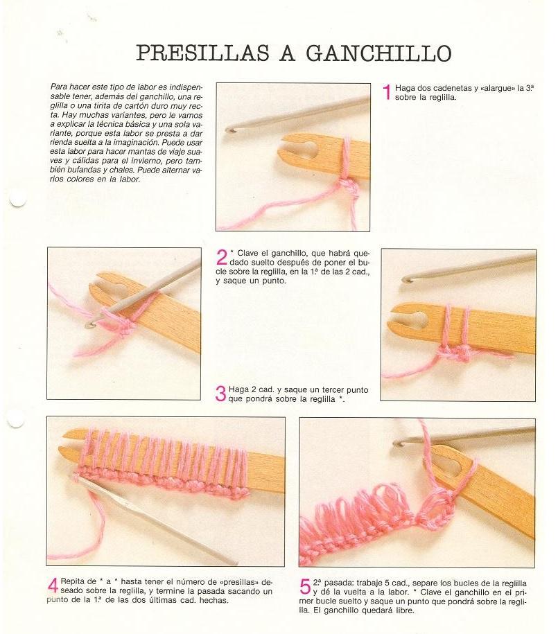 Presillas a Ganchillo