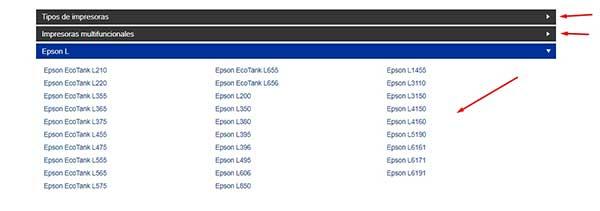 Descarga los controladores de impresoras Epson