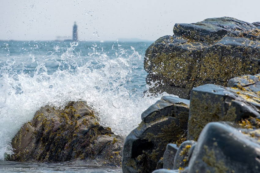 June 2015 photo by Corey Templeton of rocky coastline at Fort Williams Park in Cape Elizabeth, Maine.