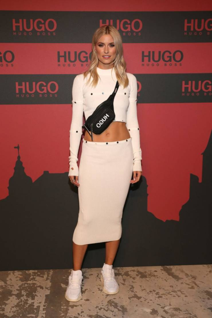 Lena Gercke At HUGO Launch Party in Berlin