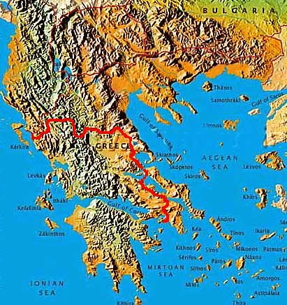 Geography Of Greece The Formation Of Greece