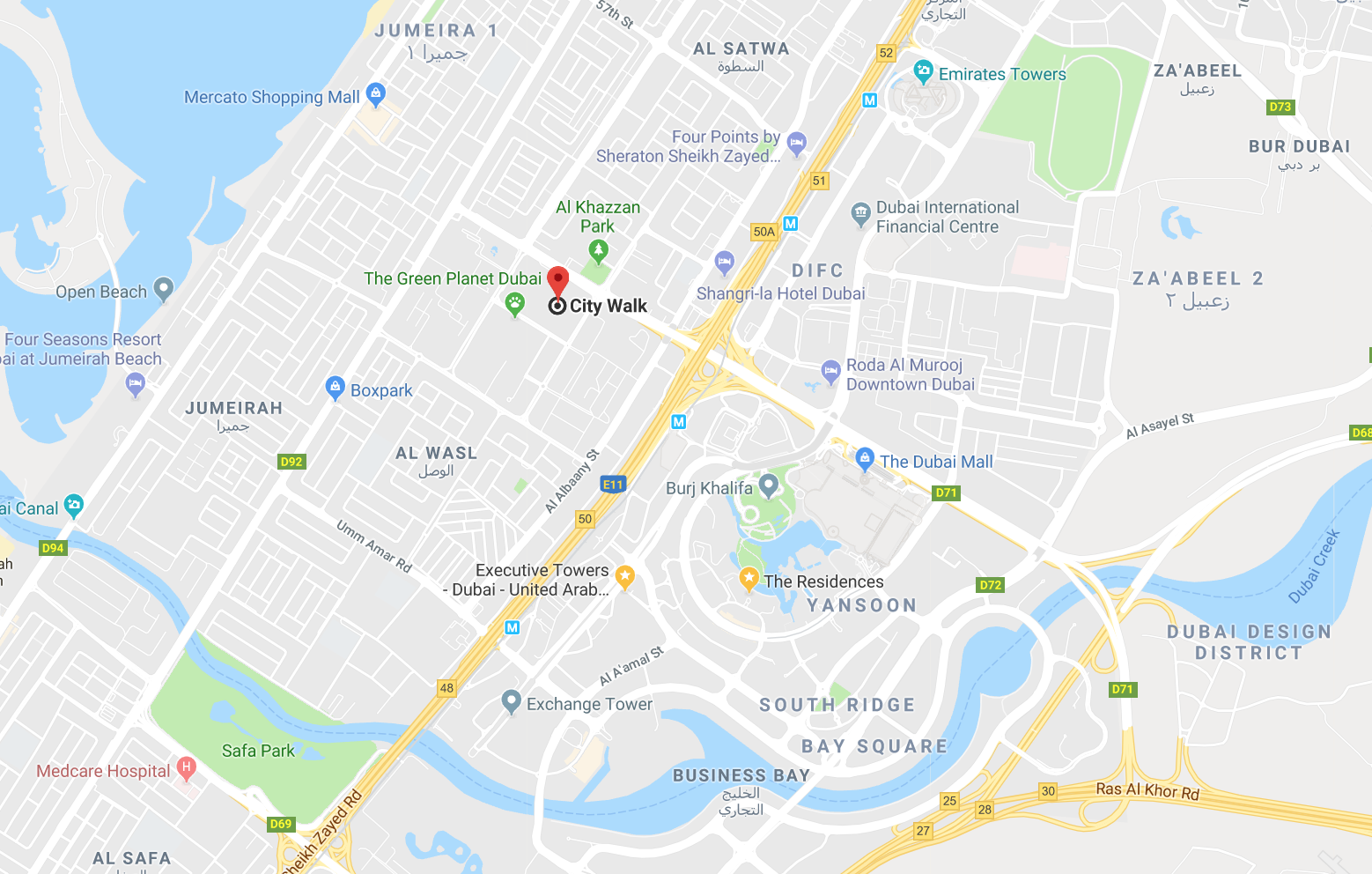 Location Map - City Walk Apartments on