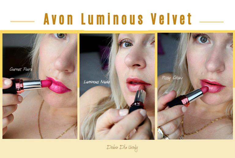 Szminki Luminous Velvet Avon - Garnet Flare, Luminous Nude Rosy Glow