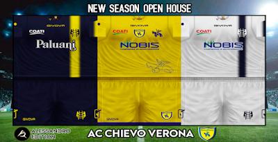 PES 6 Kits A.C. ChievoVerona Season 2018/2019 by Alessandro