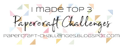 Topp 3 at PaperCrafts Challenges!