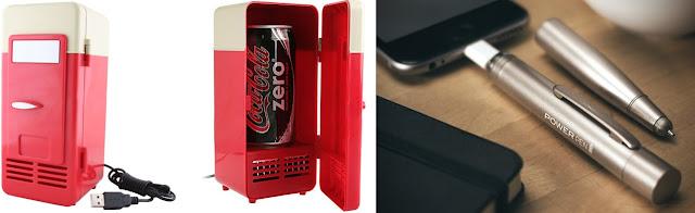 Mini geladeira - caneta carregadora de celular