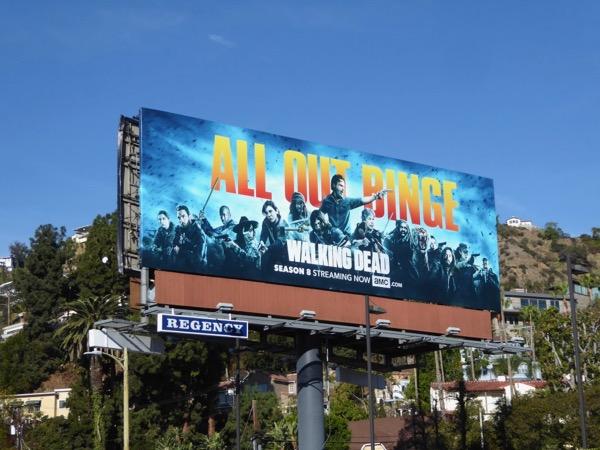Walking Dead All out binge billboard