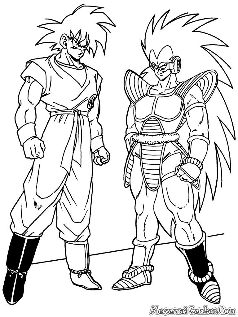 Sketsa Gambar Goku