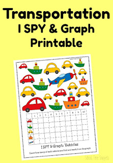 I SPY Transportation Printable Game