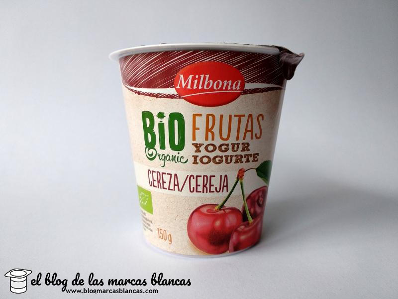 Yogur ecológico con frutas y leche entera Milbona Bio Organic de Lidl fabricado en Alemania por Gropper.
