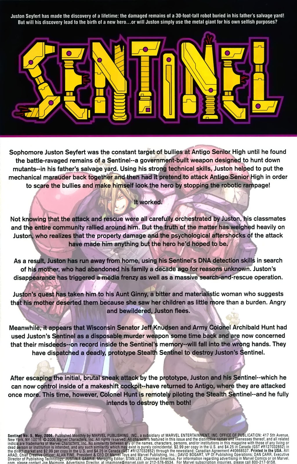 Read online Sentinel (2006) comic -  Issue #5 - 2
