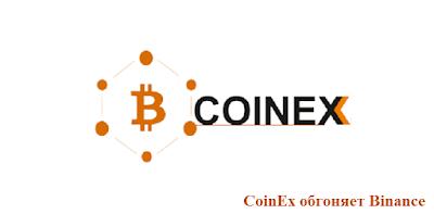 CoinEx обгоняет Binance
