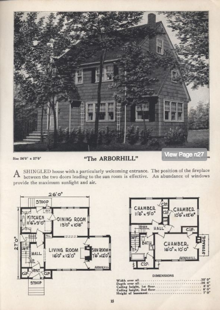CL Bowes Arborhill model-- lookalike to Sears Barrington--later marketed as Standard Homes Chalmers 1928
