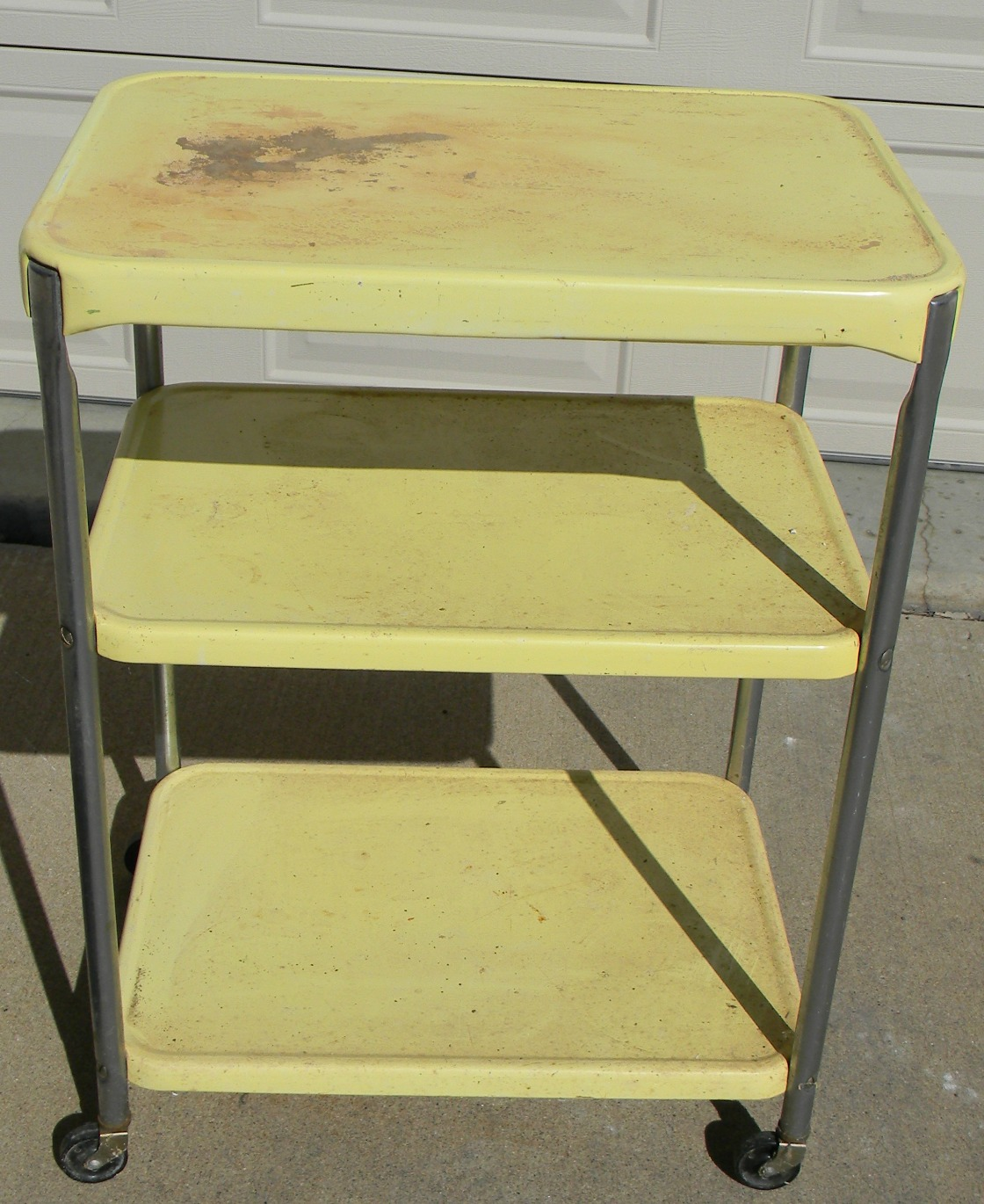 Vintage Metal Kitchen Cart Forever Decorating Cute A Fying A Rental Kitchen