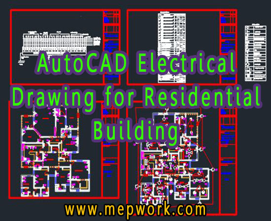 AutoCAD Electrical Drawing for Residential Building