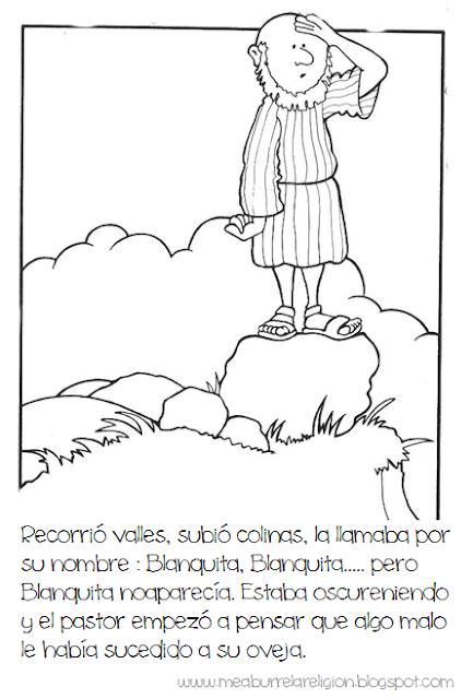 La Oveja Perdida Parabola Para Colorear Imagenes