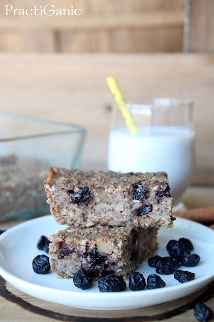 Blueberry and Quinoa Cinnamon Toast Breakfast Bars