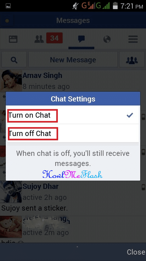 Turn Off On Chat