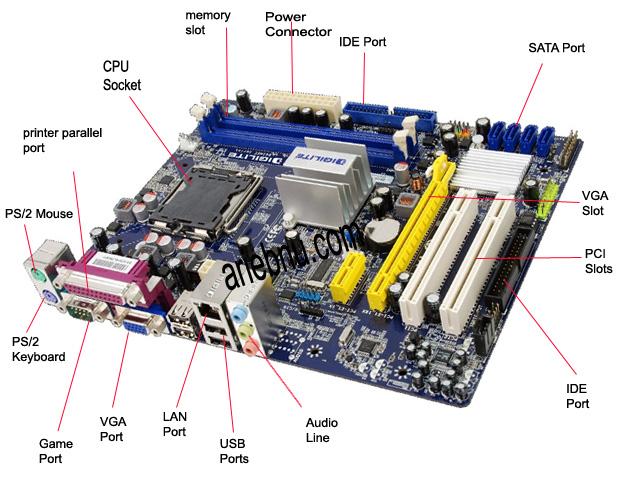 Motherboard Components List: Pengertian Motherboard, Fungsi Dan Bagian-Bagian