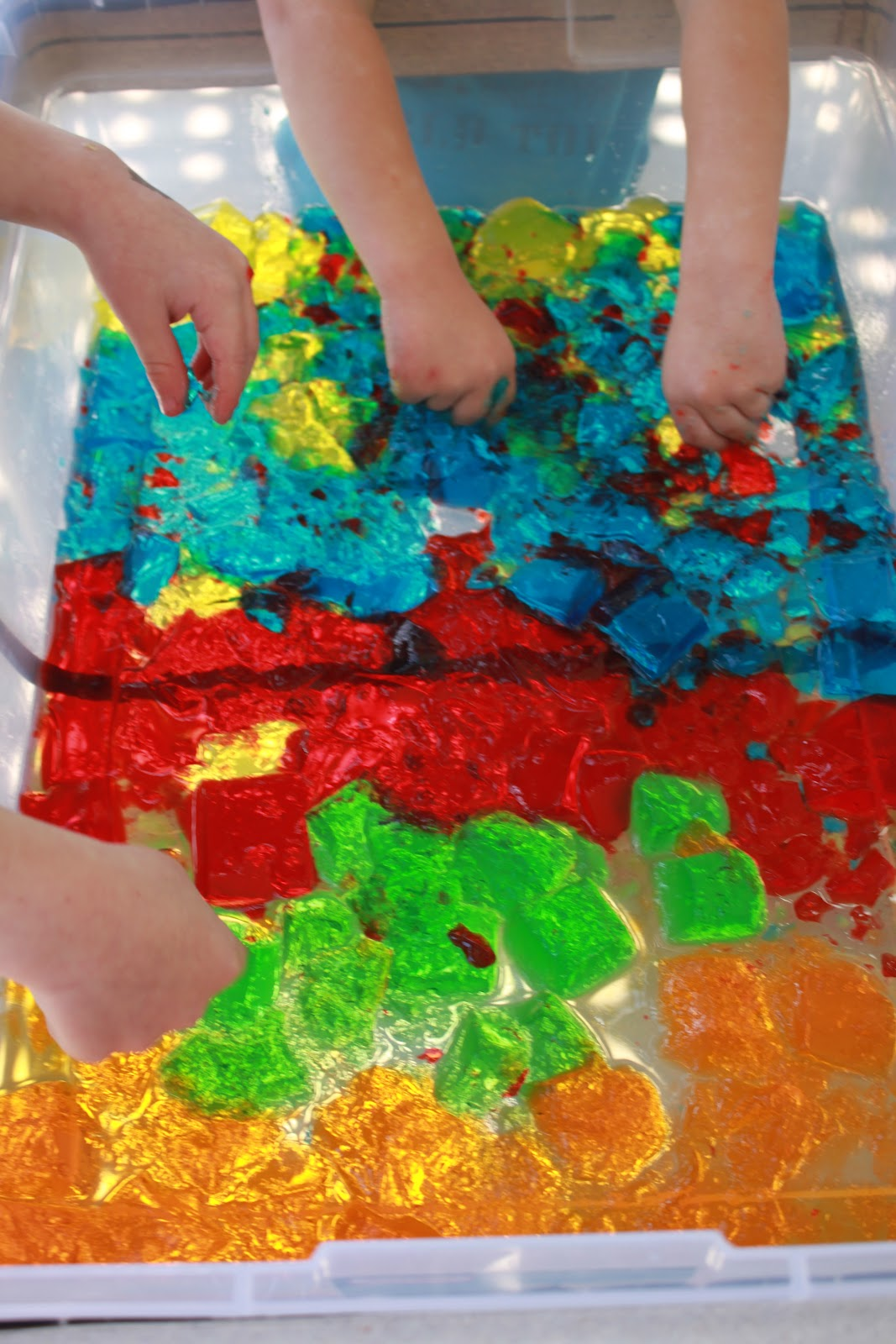 Jello Sensory Bin Learn Play Imagine