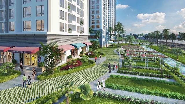 Không gian sống gần gũi với thiên nhiên tại dự án FLC Phạm Hùng