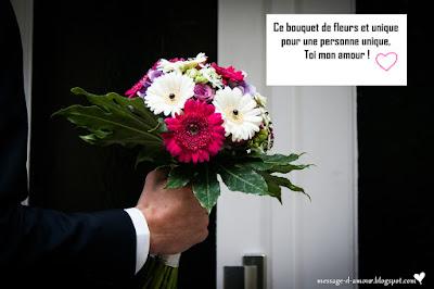 message d'amour pour carte de fleurs