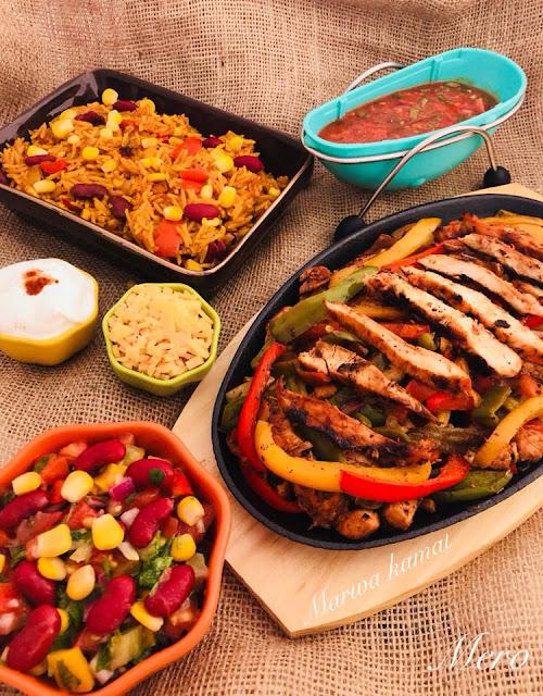 فاهيتا الدجاج المكسيكية البسيطة و الصحية جدا