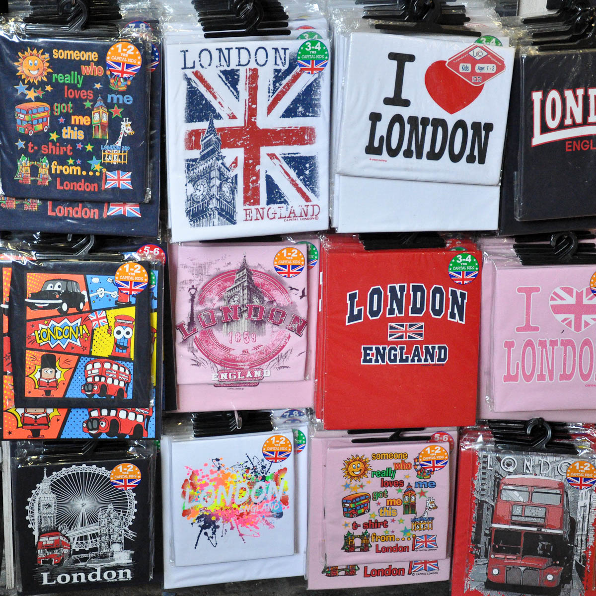 London T-Shirts, Stables Market, Camden Town, London, England