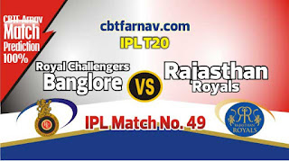 RR vs RCB IPL T20 2019 49th Match Prediction Today Who Will Win