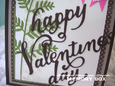 masculine valentine card detail