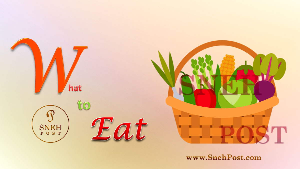 Healthy eating habit: What to eat (Illustration of a vegetable-bucket loaded with fresh green vegies)