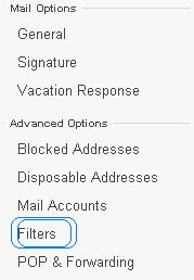 Yahoo Filter to prevent yourself from spam E-mails