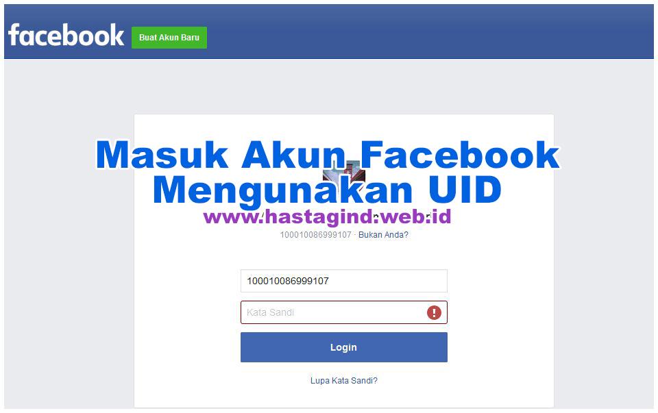 Masuk Akun Facebook Mengunakan UID