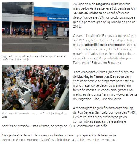234175a55fe Fonte  Diário do Nordeste Magazine Luíza