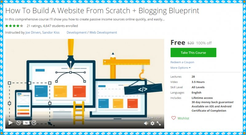 100 Free Udemy Coupon How To Build A Website From