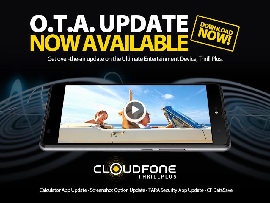CloudFone Thrill Plus OTA Update