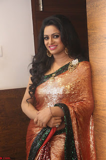 Udaya Bhanu lookssizzling in a Saree Choli at Gautam Nanda music launchi ~ Exclusive Celebrities Galleries 112.JPG
