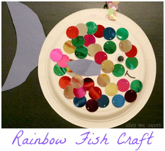 Sparkly Paper Plate Fish Craft For Kids School Time Snippets