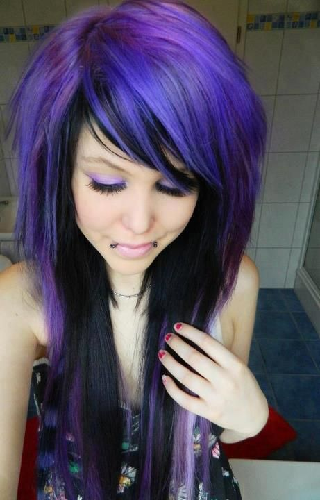 Cool Black Amp Purple Hairstyles A Gorgeous Combination Hairstyles For Women Draintrainus