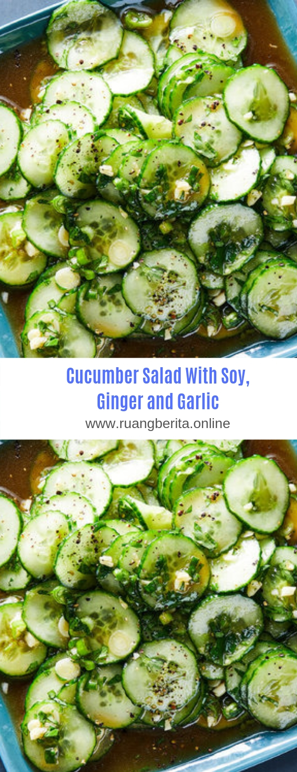 Cucumber Salad With Soy, Ginger and Garlic