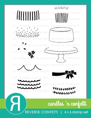 candles 'n confetti stamp set