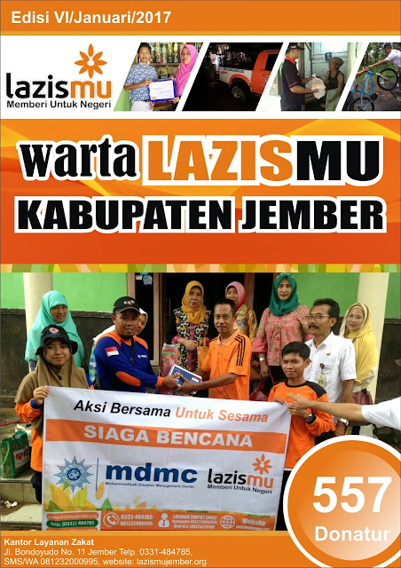 Cover Laporan Lazismu Jember bulan Januari 2017