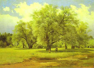 Willows Lit Up by the Sun, by Shishkin