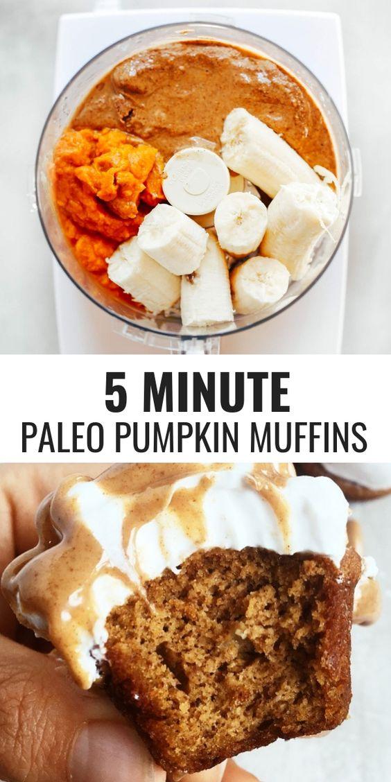 5 Minutes Healthy Pumpkin Muffins