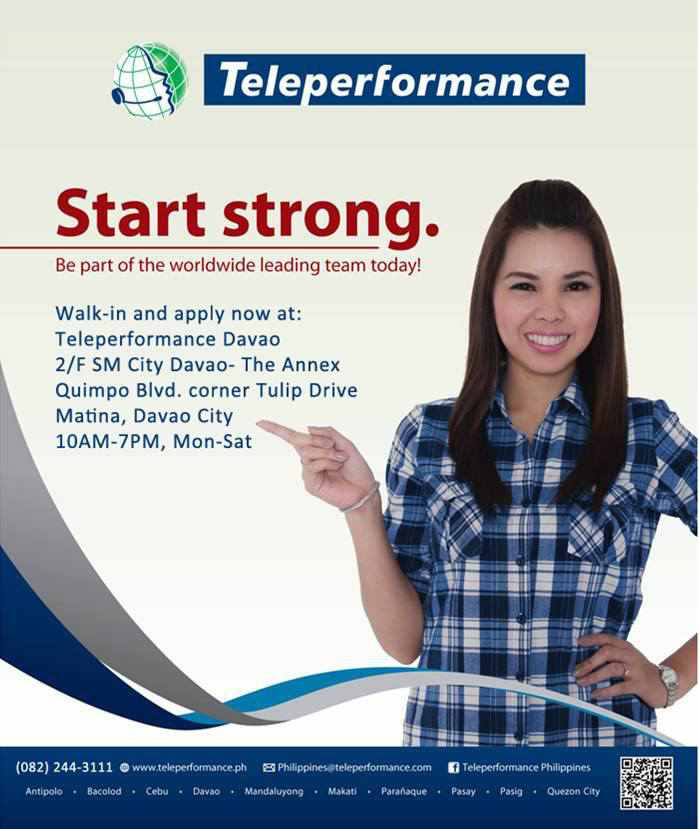 Job Hunt Davao: Jobs Davao: Join Teleperformance now