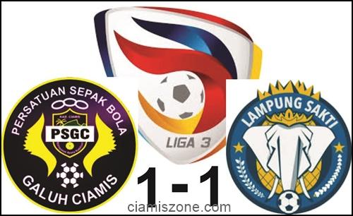 Lampung Sakti Tahan Imbang PSGC 1-1
