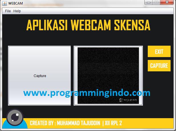 Tampilan Webcam By Dunia Programming